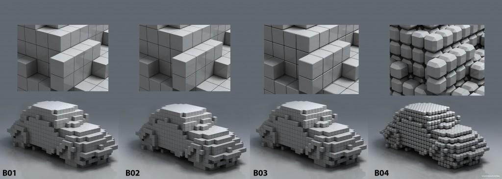 Different Edges for Voxels or 3D Pixels