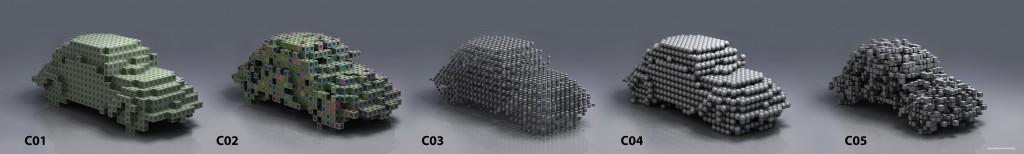 3D Pixel Voxel Styles
